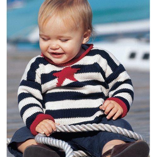 deniz yıldızlı çizgili bebek kazğı