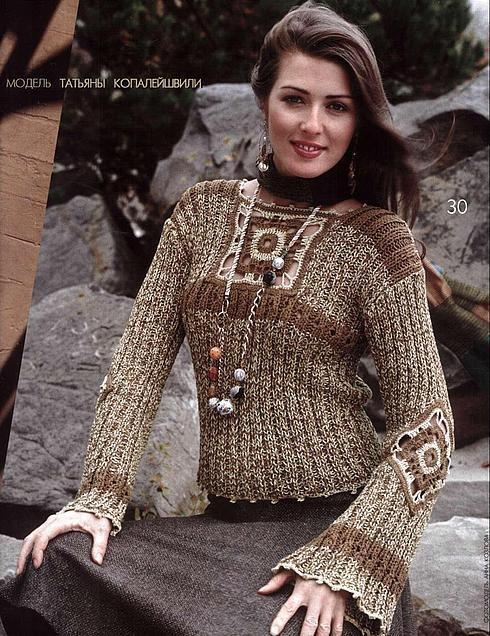 göğsü motifli kazak modeli