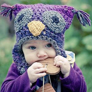 hayvan desenli kulaklı bebek şapkası