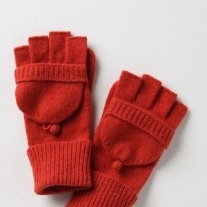 kırmızı renkli örgü eldiven modelleri