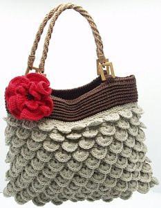 kat kat örülen yeni örgü bayan çanta modelleri