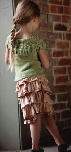 kayık yaka desenli yarım kollu kazak modeli