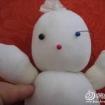 keçe ile yapılan oyuncak kardan adam modeli yapılışı 2
