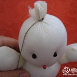keçe ile yapılan oyuncak kardan adam modeli yapılışı 3
