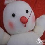 keçe ile yapılan oyuncak kardan adam modeli yapılışı 4