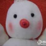 keçe ile yapılan oyuncak kardan adam modeli yapılışı 5