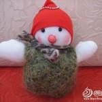 keçe ile yapılan oyuncak kardan adam modelleri