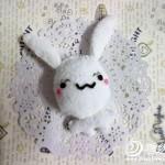 keçe ile yapılan tavşan kafası modeli yapılışı 4