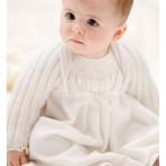 krem bebek hırkası