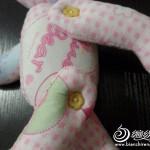 kumaş ile tasarlanan pembe panter oyuncak