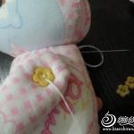 kumaş ile tasarlanan pembe panter oyuncak modeli yapılışı