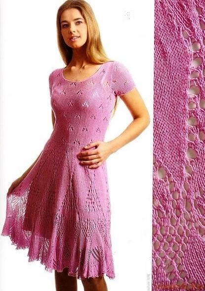 lila ajurlu kloş elbise modeli
