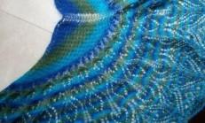 Renkli Örgü Bayan Şal Modelleri
