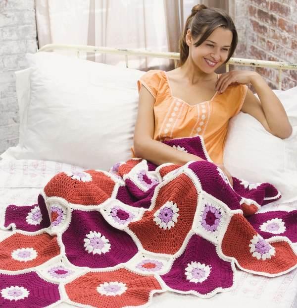 motifli örgü battaniyeler