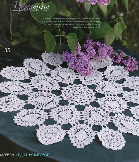 motifli dantel sehpa örtüsü modelleri