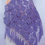 püsküllü motifli şal modeli