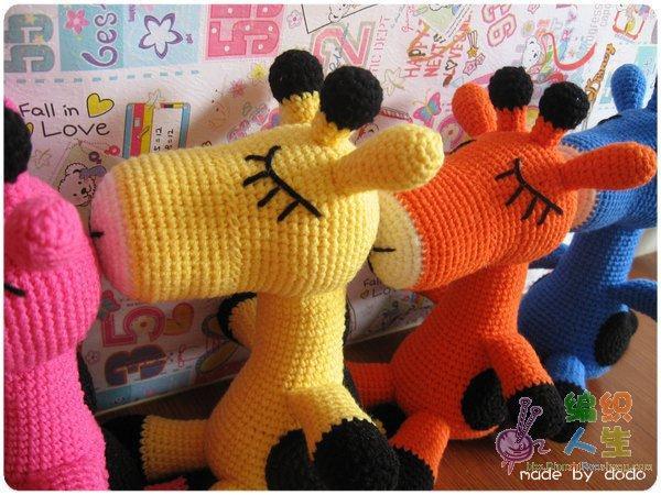 rengarenk örgü sevimli oyuncak hayvan modelleri