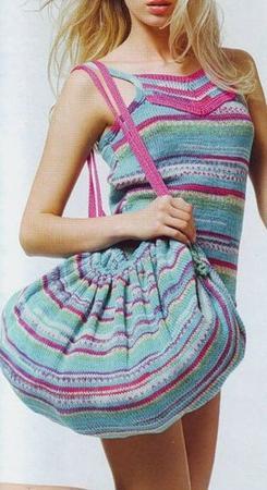 renkli çizgili plaj çantası modeli