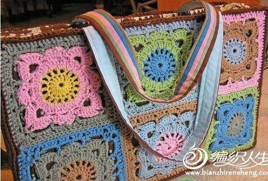 renkli motifler ile örülen çanta örnekleri