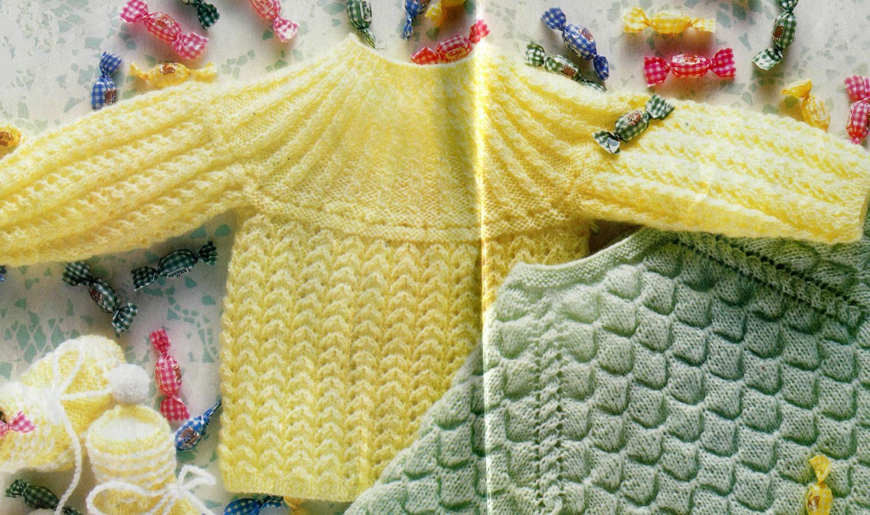 sarı renkli yuvarlak yaka bebek kazakları modeli