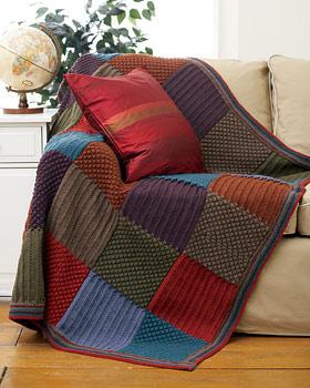 sis ile örülmüş motifli battaniye