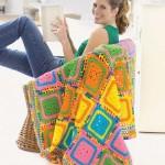 tığ işi motifli battaniye modelleri