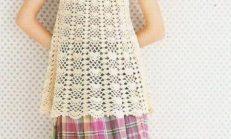 Kız Çocuklar İçin Yeni Örgü Yelek ve Bluz Modelleri