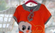 Kız Çocuklar İçin Örgü Kazak Modelleri