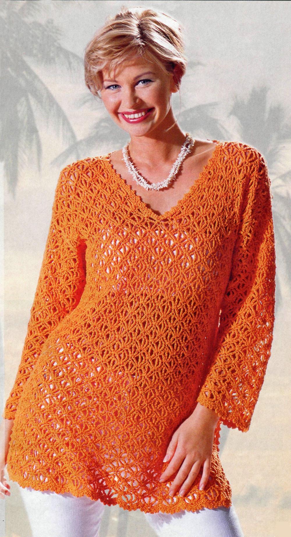 v yakalı uzun kollu tunik örgü bluz modeli
