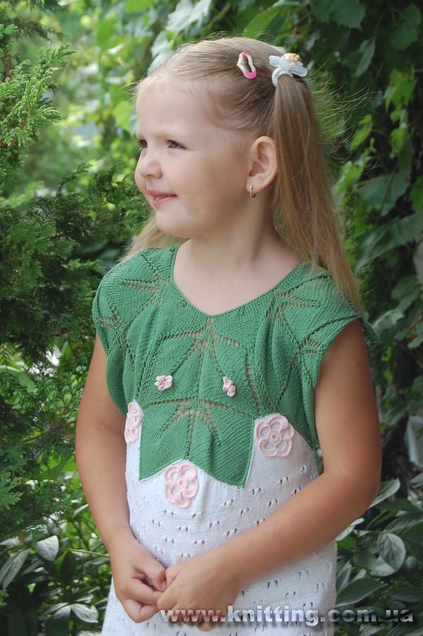 yeşil beyaz renkli işlemeli elbise modeli