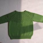 yeşil renkli desenli erkek çocuk kazak modelleri