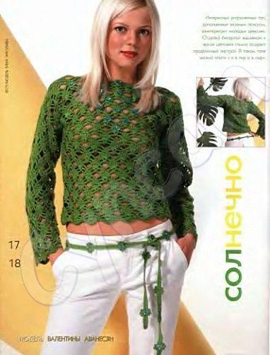 yeşil renkli göbek üstü bluz modeli