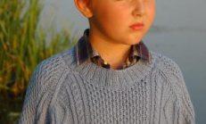 Saç Örgüsü ve Baklava Dilim Desenli Erkek Çocuk Kazak Örnekleri
