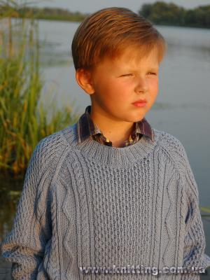 yuvarlak yaka zikzak desenli kazak modeli