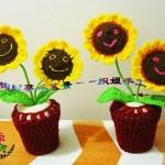 örgü çiçek ve saksı modelleri