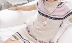 Resimli Anlatım Aşamalı Örgü Elbise Modelleri