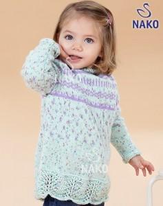 Acur Desenli Örgü Bebek Kazak Modeli