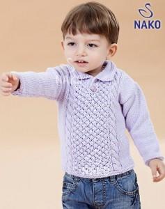 Burgu Desenli Erkek Bebek Kazak Modeli