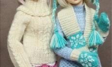 Oyuncak Bebekler İçin Örgü Kıyafet Modelleri