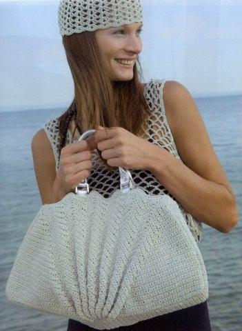 bavul şekilli örgü el çantası modeli