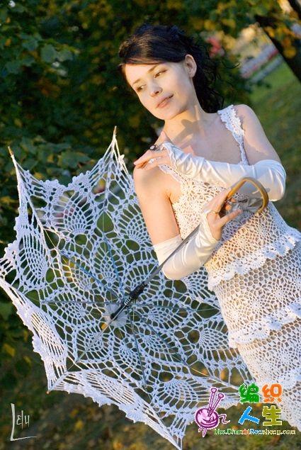 beyaz dantel pileli örgü elbise modeli