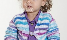 Haraşo Desenli Renkli Bebek Bolero Modeli