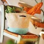 iki renkli örgü el çantası modeli