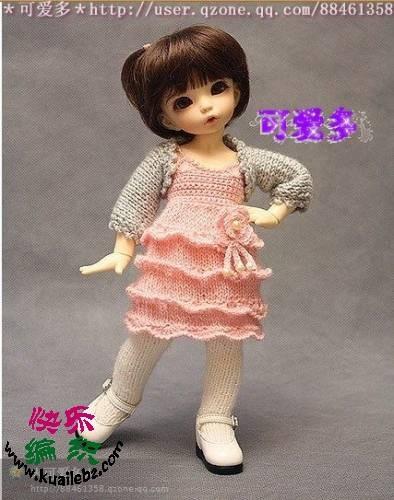 oyuncak bebek örgü yazlık elbise ve bolero modelleri