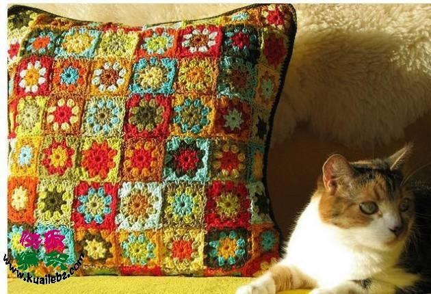 renkli motifli kırlent örnekleri