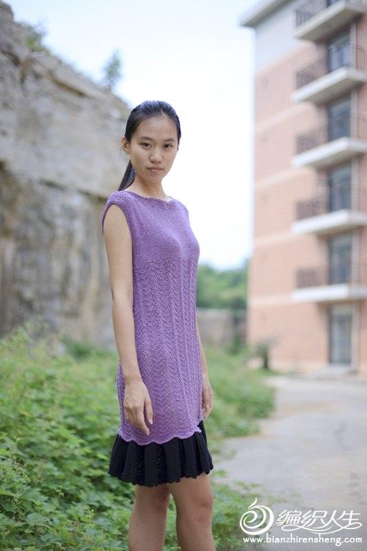 sıfır kollu lila renkli etekleri siyah renk elbise modelleri