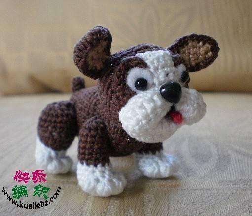 sevimli köpek örgü modeli
