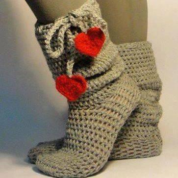 örgü ev çorabı