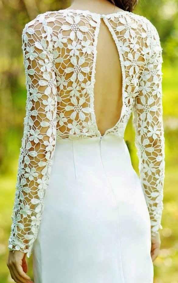 beyaz dantel örgü elbise