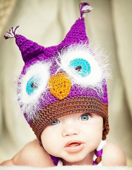 kulaklı baykuş görünümlü şapka